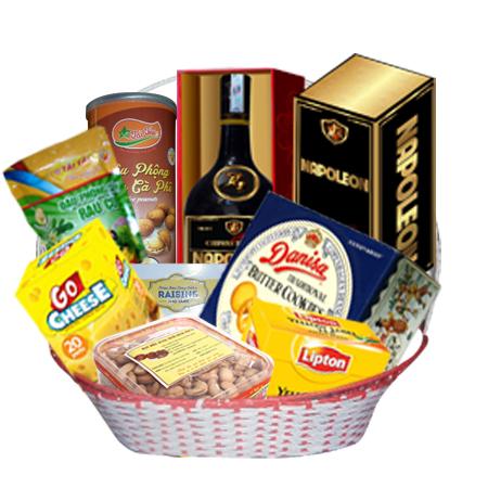 Giỏ quà biếu tặng tết 2016 - Giá rẻ - MSP THA-14